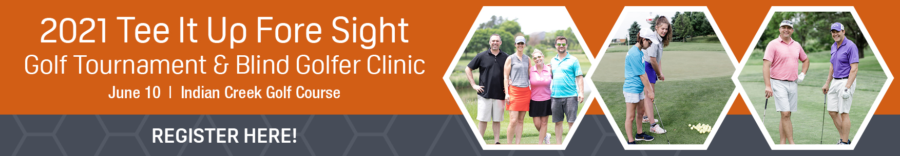 Tee It Up Fore Sight Golf Registration Banner
